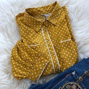 Mustard Polka Dot Shirt